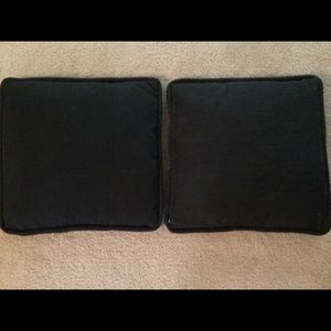 Black Material Square Throw Pillows